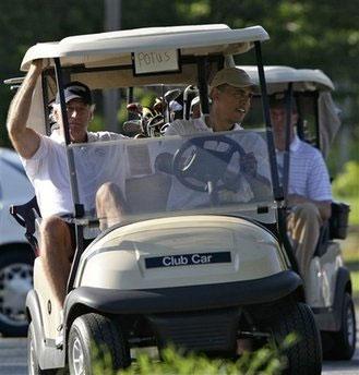 Obama-Golfs-While-Iranians-