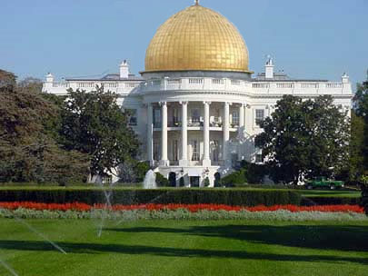 White-House-With-Dome-Top