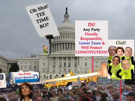 Tea Party - Supporting Those of Any Party Who Support The Constitution, Limited Government, Responsible Fiscal Policy, Lower Taxes, and Free Markets