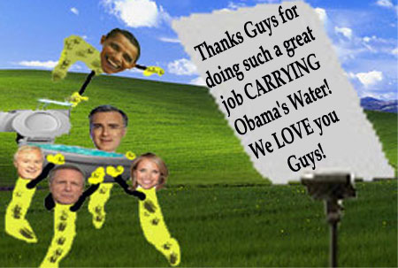 Media Faithful in Carrying Obama's Water