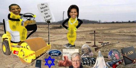 ChiBama Politics Destroying America (notice the baby)
